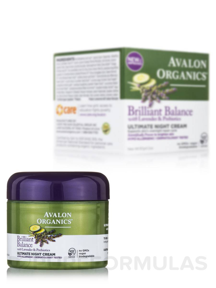 Brilliant Balance Ultimate Night Cream with Lavender & Prebiotics - 2 oz (57 Grams)