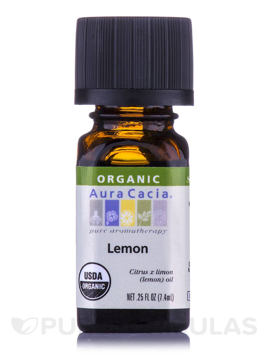 Organic Lemon Essential Oil - 0.25 fl. oz (7.4 ml)