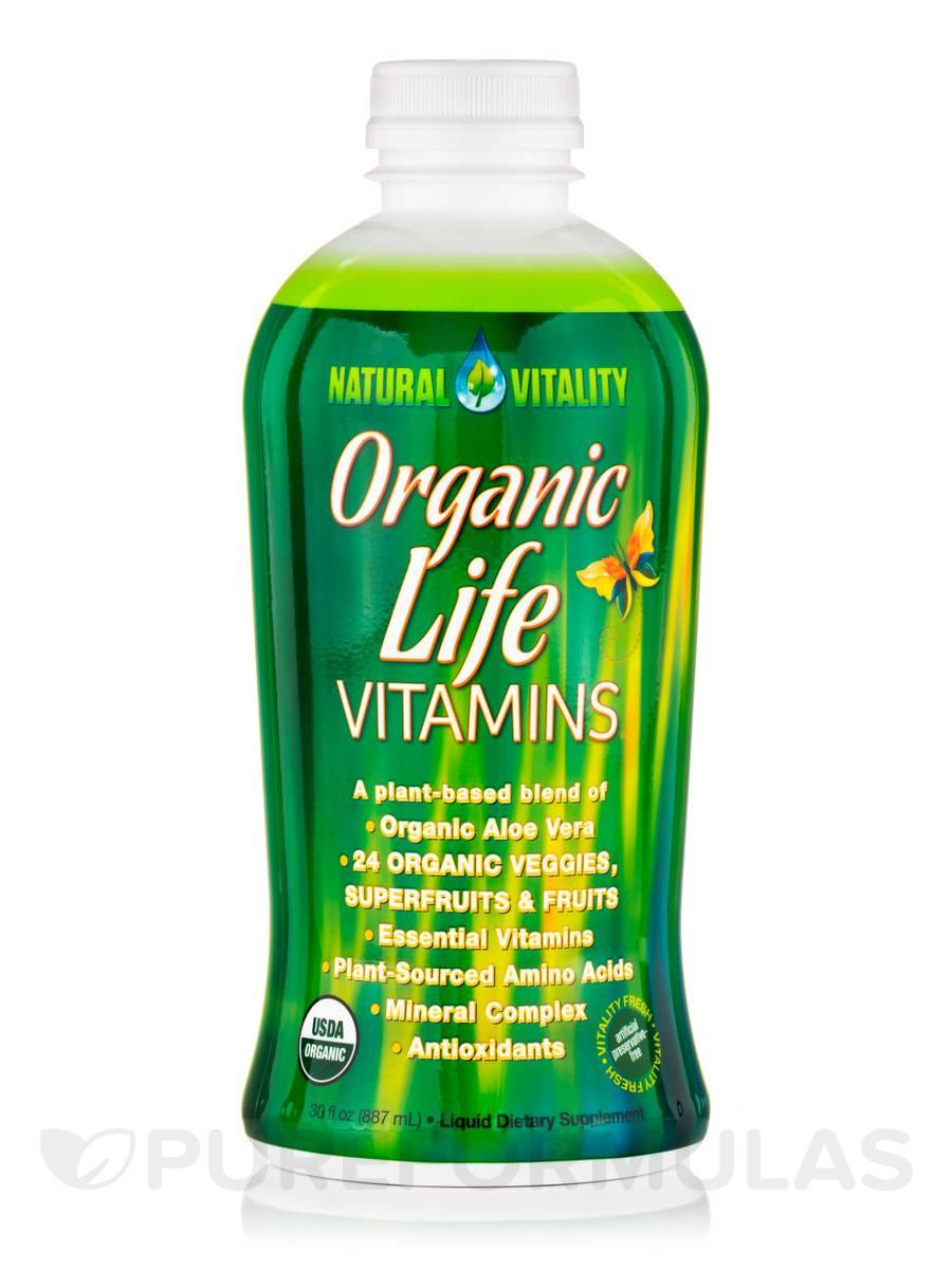 Organic Life Vitamins®, Raspberry-Cranberry Flavor - 30 fl. oz (887 ml)