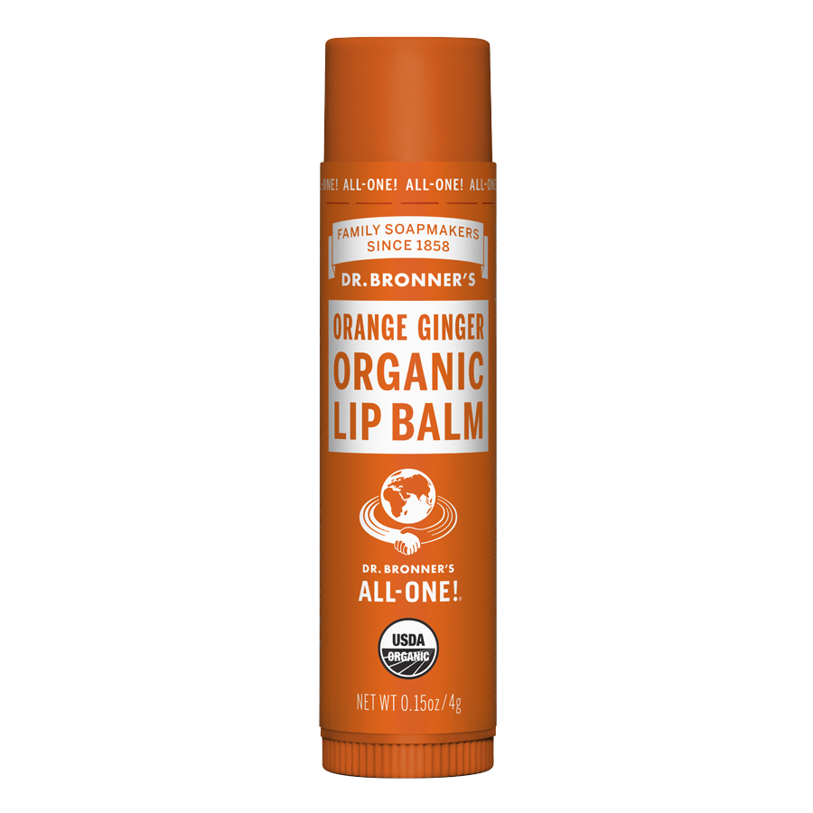 Organic Lip Balm Orange Ginger - 0.15 oz (4 Grams)