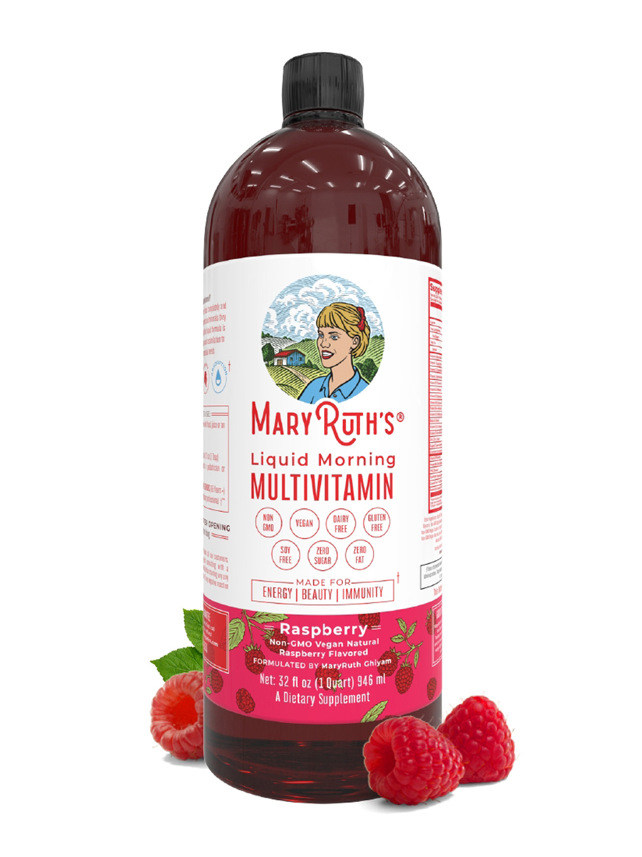 Liquid Morning Multivitamin Original Raspberry 32 Fl Oz 946 Ml Bragg Apple Cider Vinegar