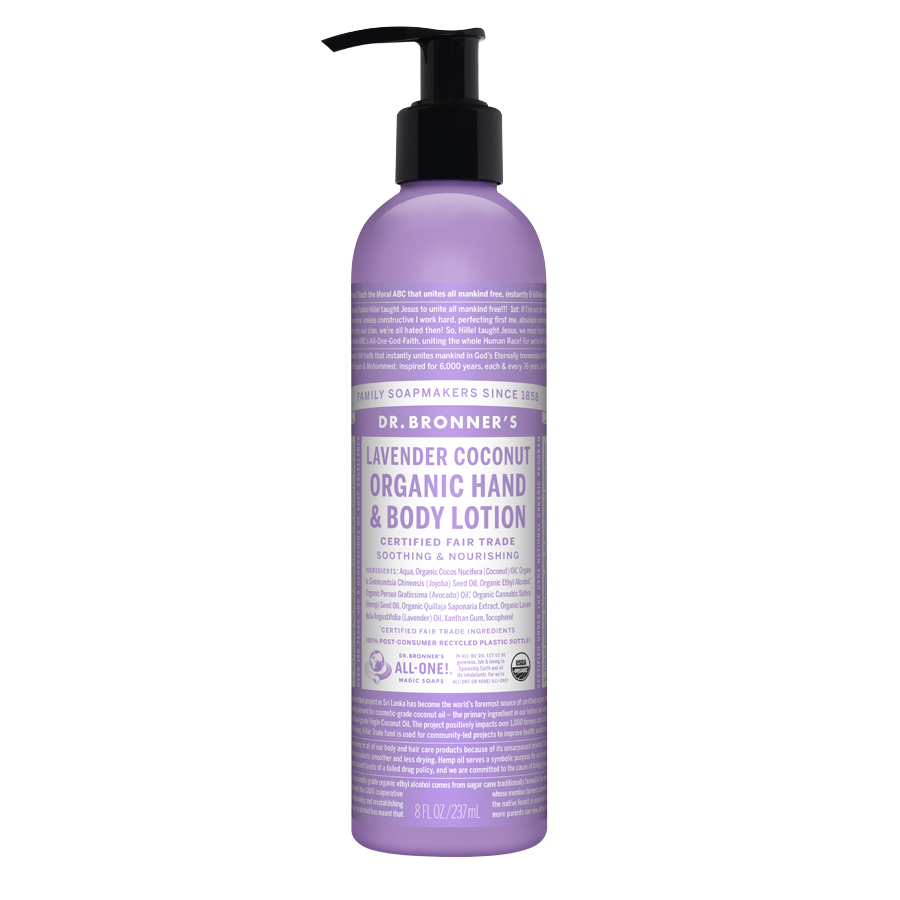 Organic Lotion Lavender Coconut (lightly scented) - 8 fl. oz (237 ml)