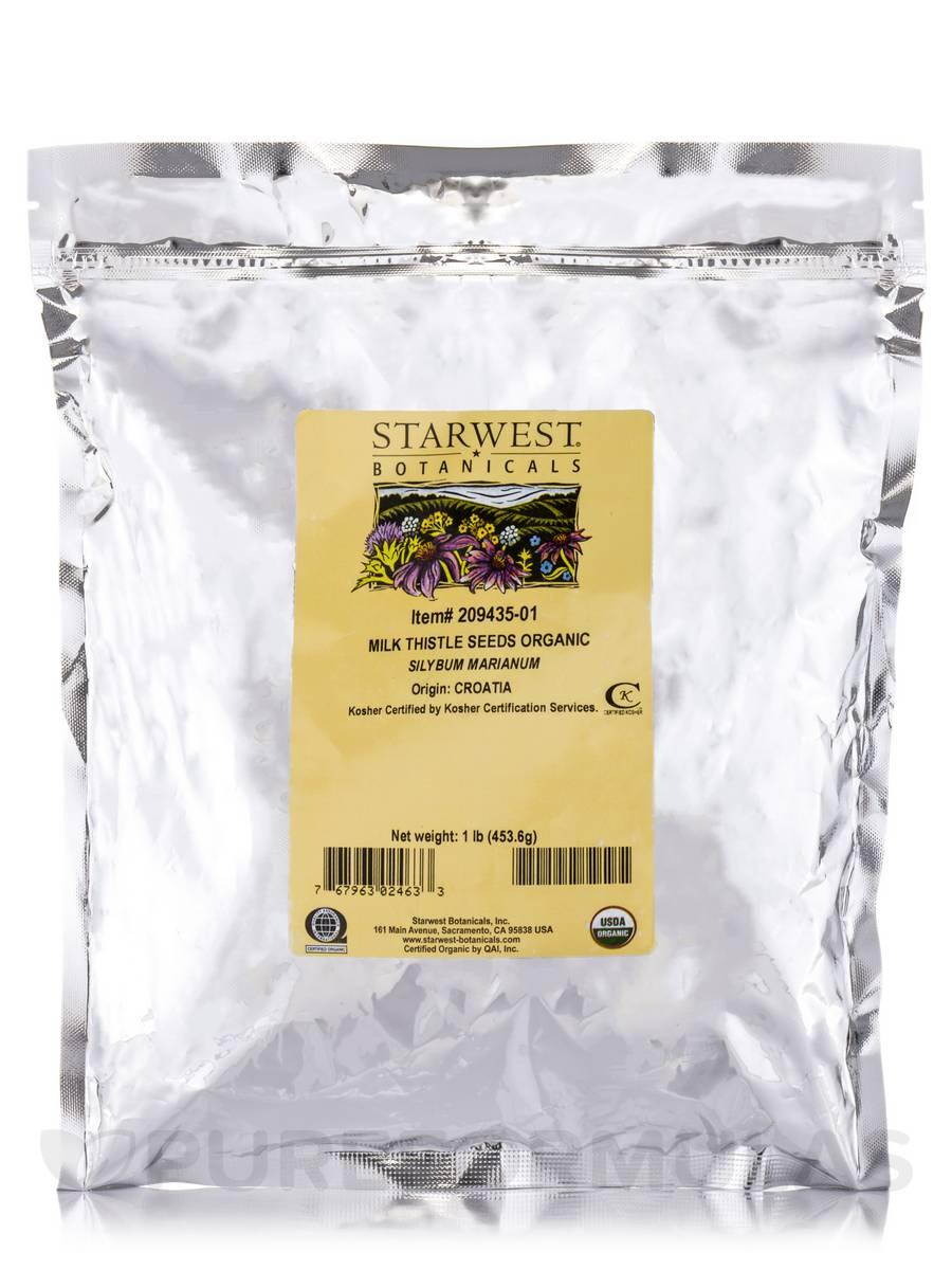 Organic Milk Thistle Seeds - 1 lb (453.6 Grams)
