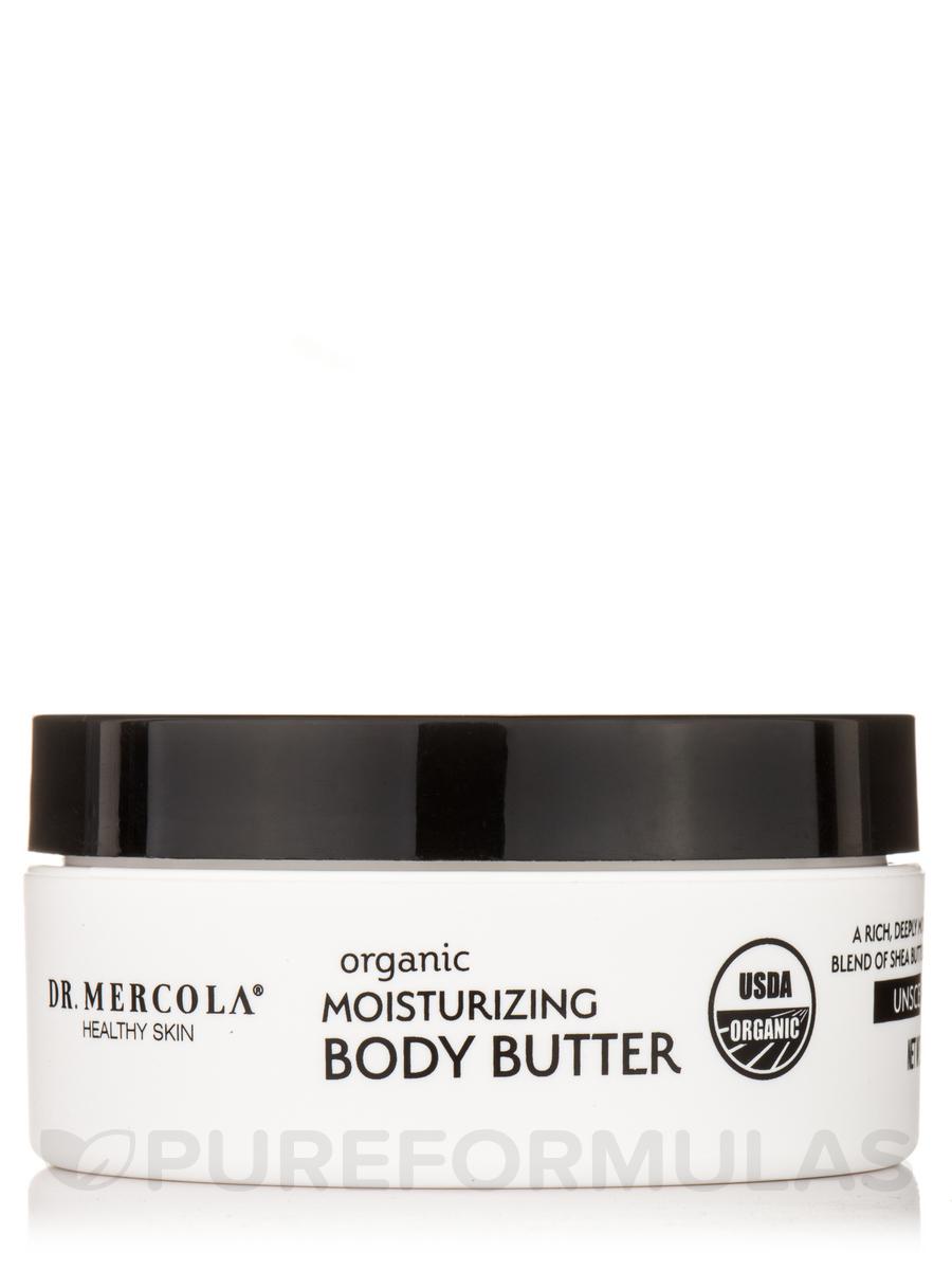 Organic Moisturizing Body Butter, Unscented - 4 oz (113 Grams)