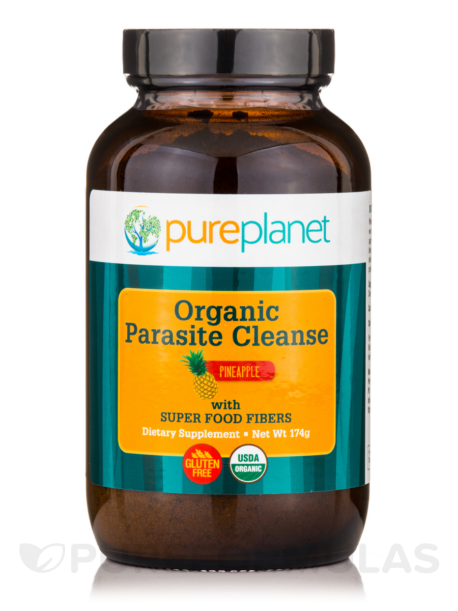 Parasite Cleanse >> Organic Parasite Cleanse With Super Food Fibers Pineapple Flavor 174 Grams