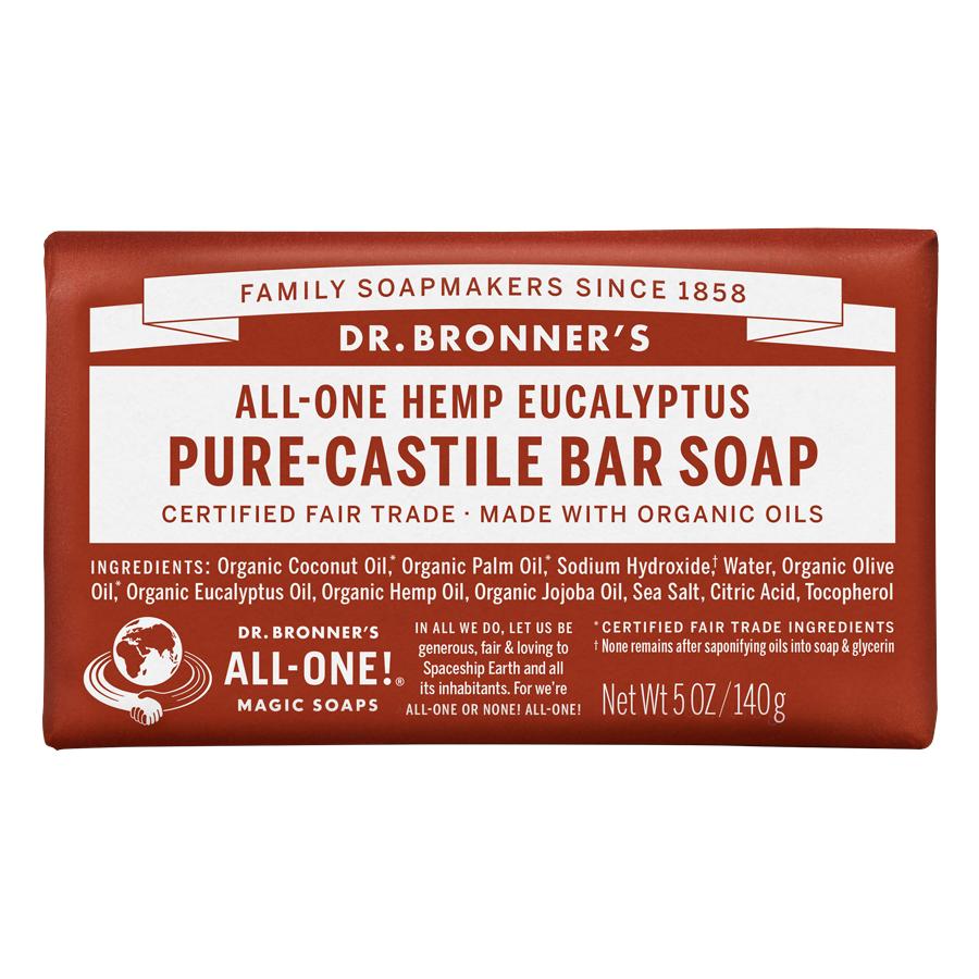 Organic Pure Castile Eucalyptus Bar Soap - 5 oz (140 Grams)