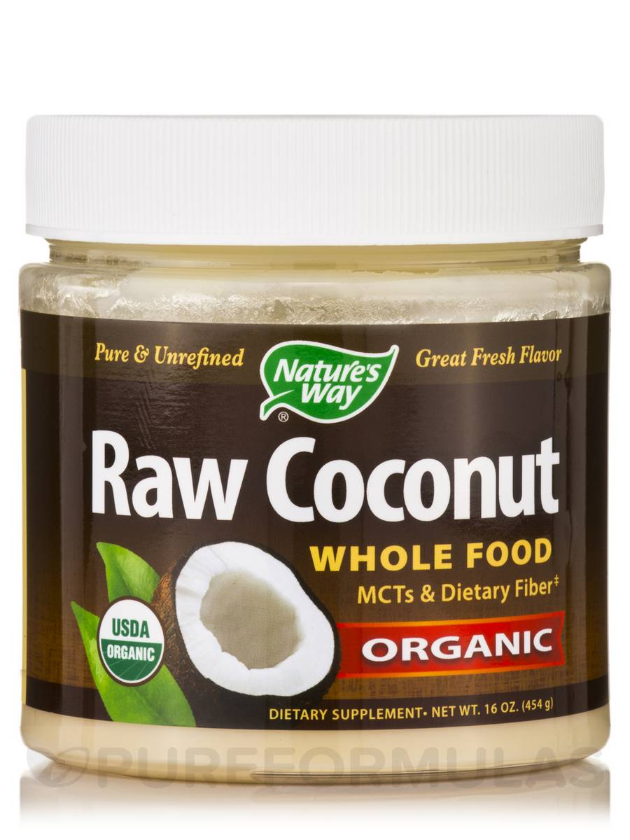Organic Raw Coconut - 16 oz (454 Grams)