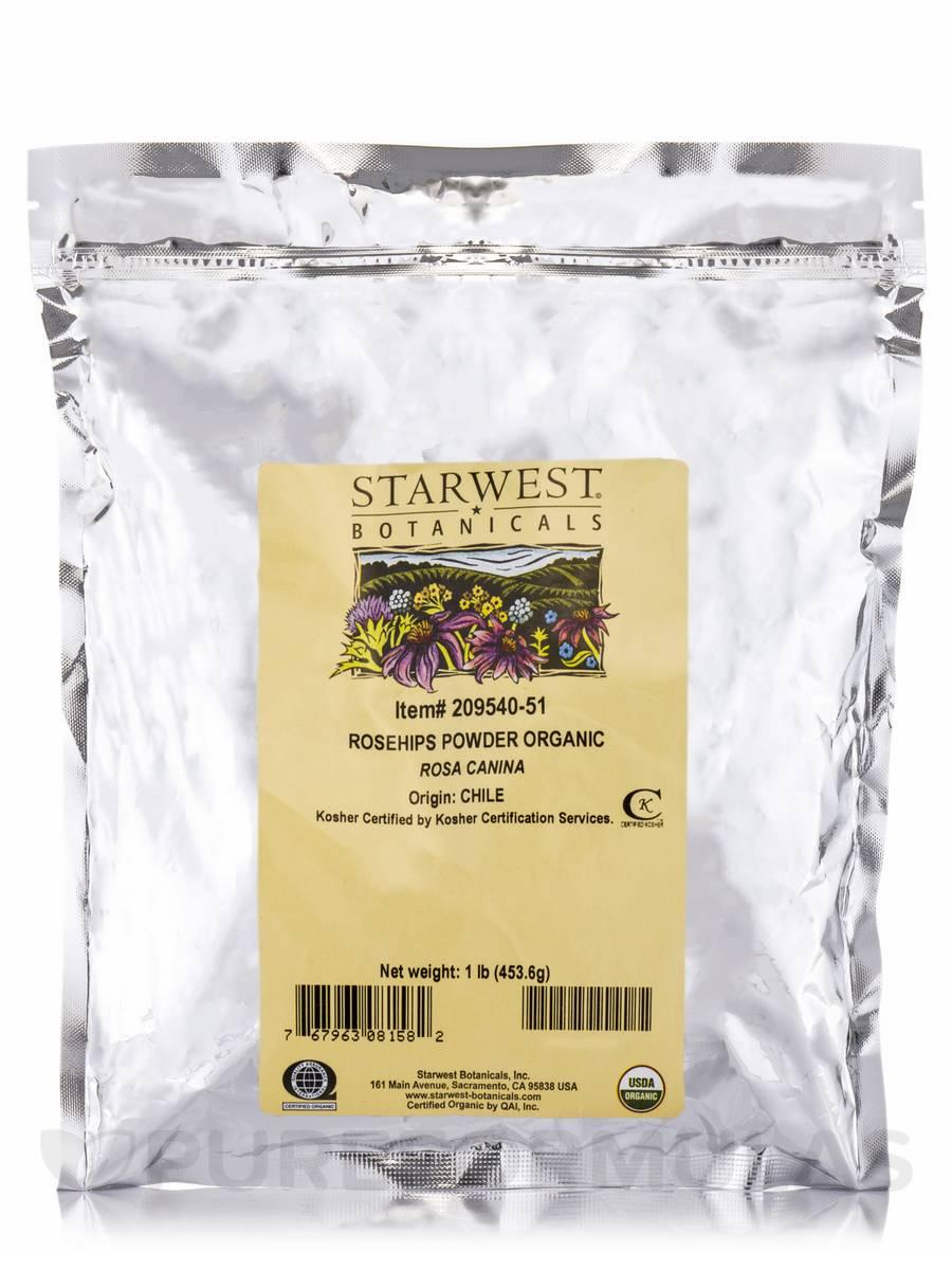 Organic Rosehips Powder - 1 lb (453.6 Grams)