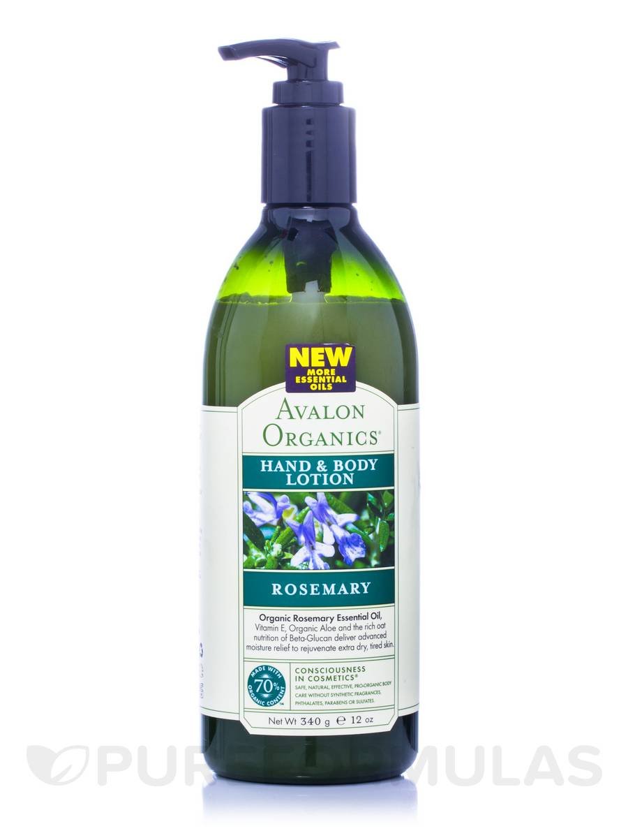Rosemary Hand and Body Lotion - 12 oz (340 Grams)