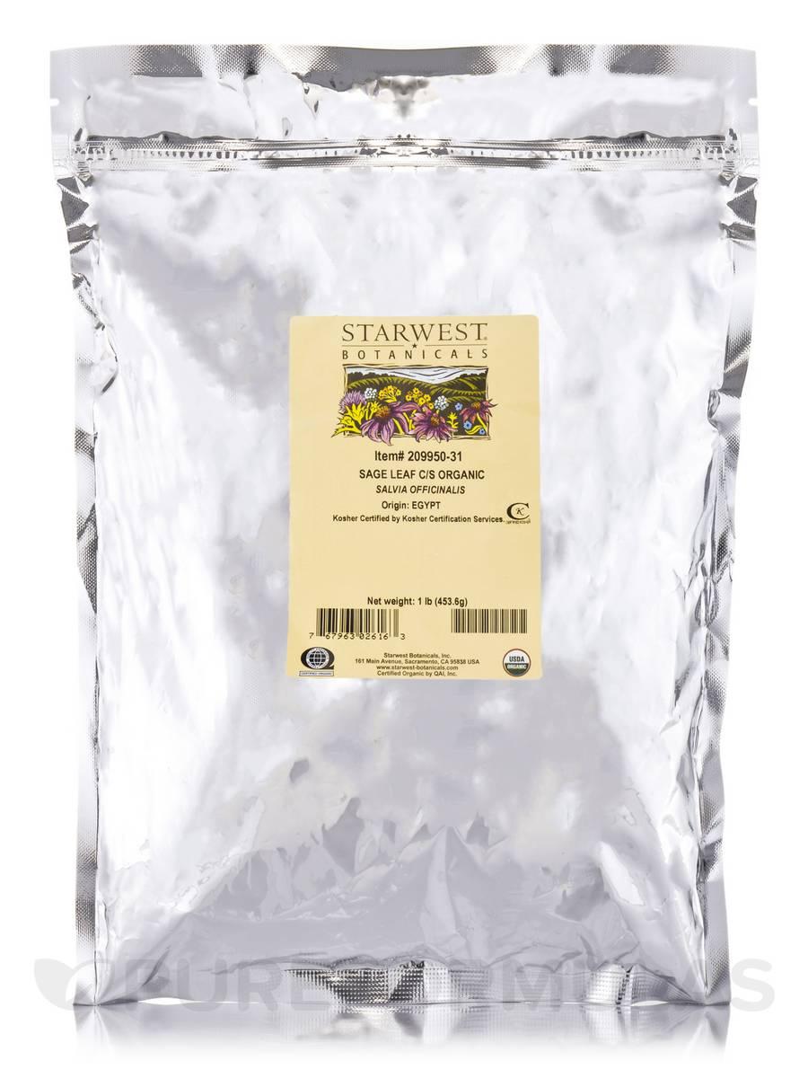 Organic Sage Leaf C/S - 1 lb (453.6 Grams)