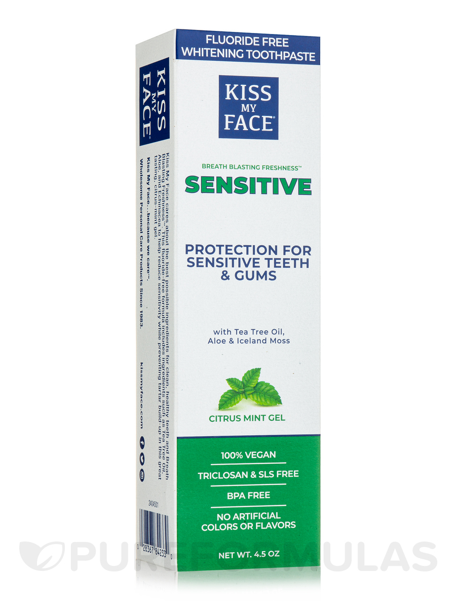 Organic Sensitive Toothpaste With Natural Aloe Vera Gel - 4.5 oz (127.6 Grams)