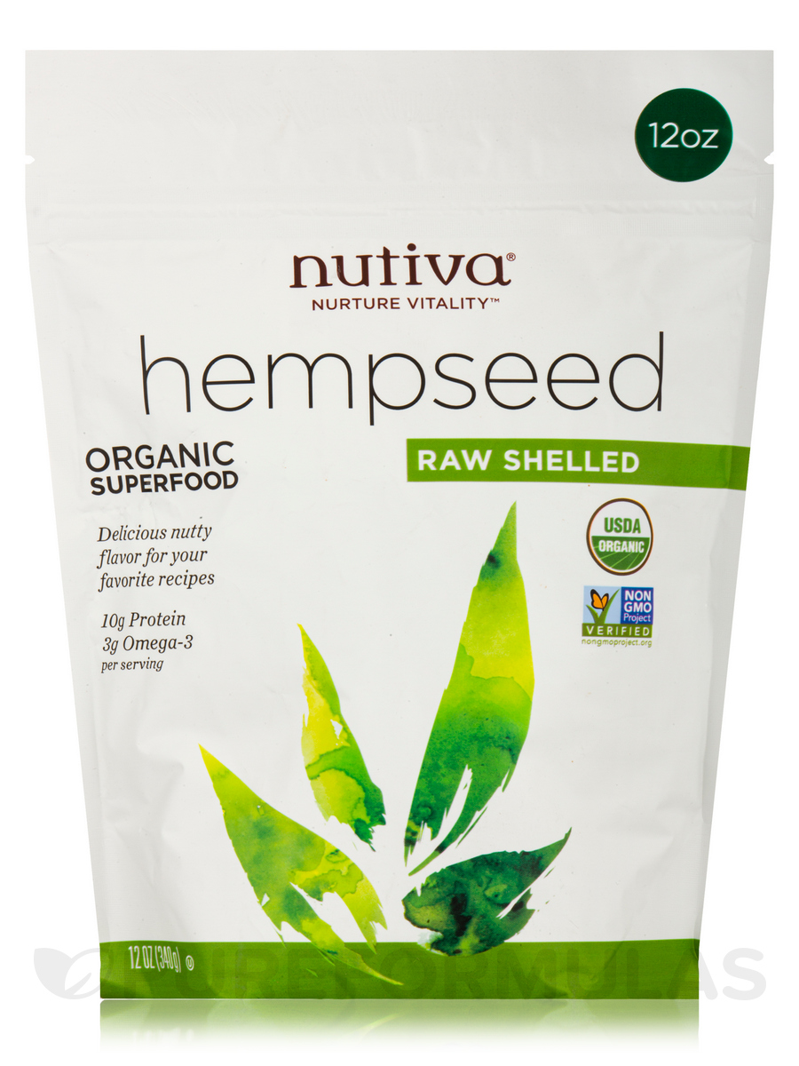 Organic Raw Shelled Hempseed - 12 oz (340 Grams)