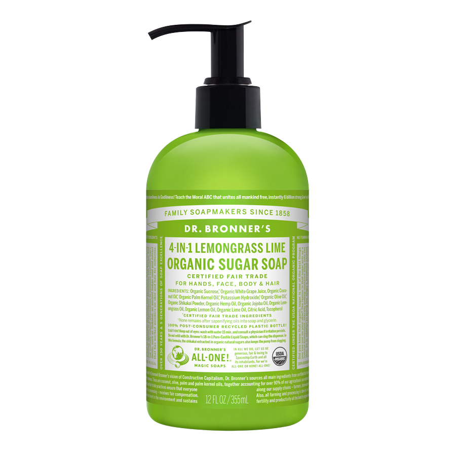 Organic Sugar Lemongrass Lime Pump Soap - 12 fl. oz (355 ml)