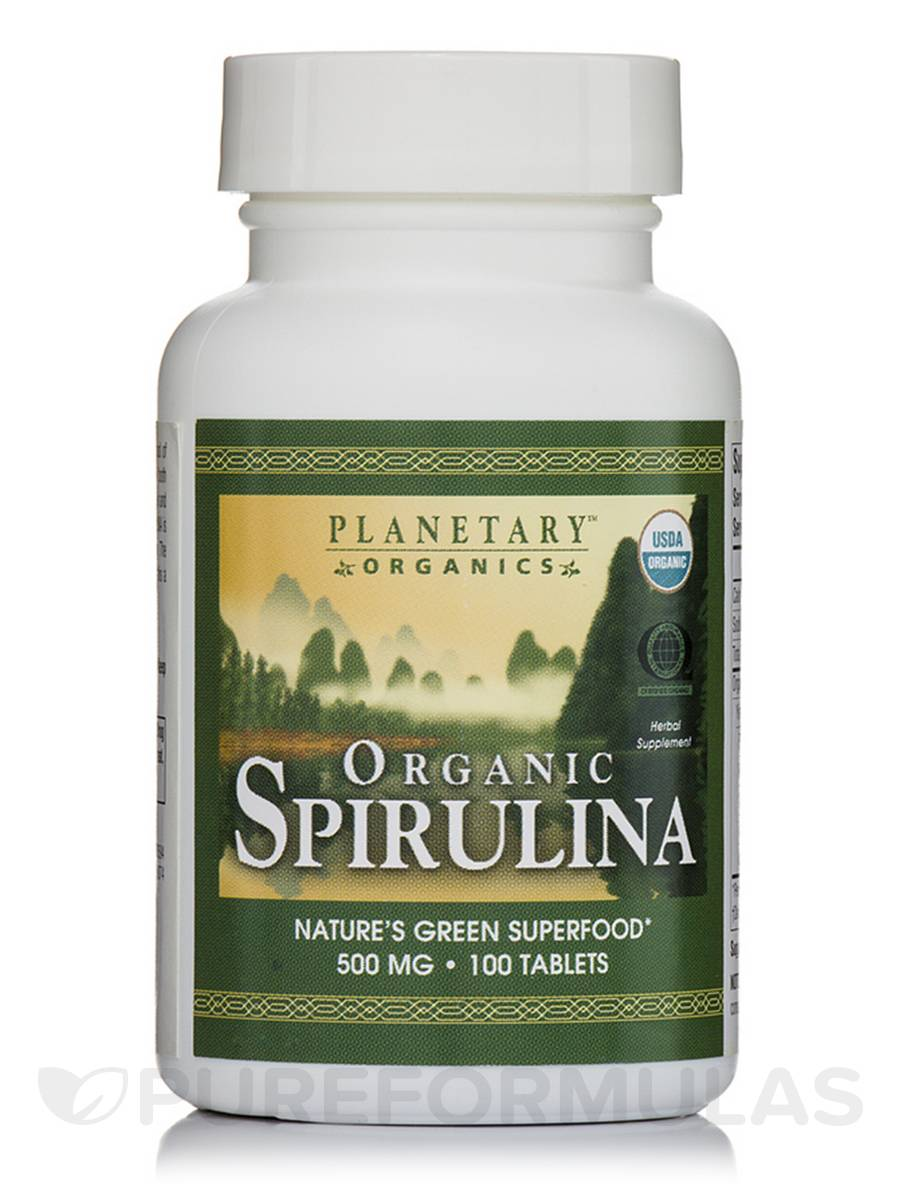 Organic Spirulina 500 mg - 100 Tablets