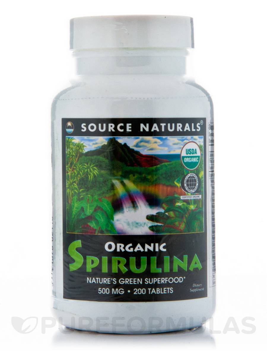 Organic Spirulina 500 mg - 200 Tablets
