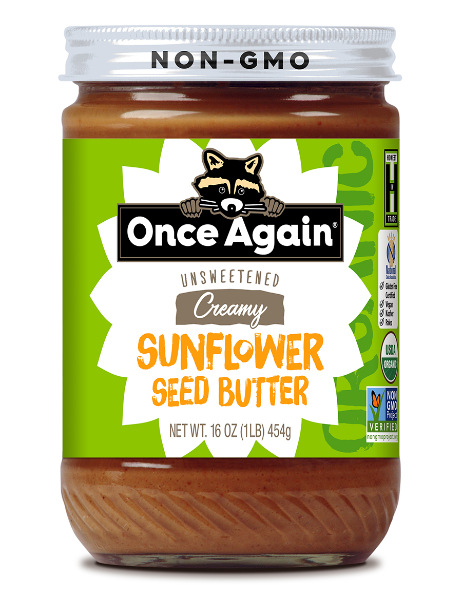 Creamy Sunflower Seed Butter, Unsweetened - 16 oz (454 Grams)
