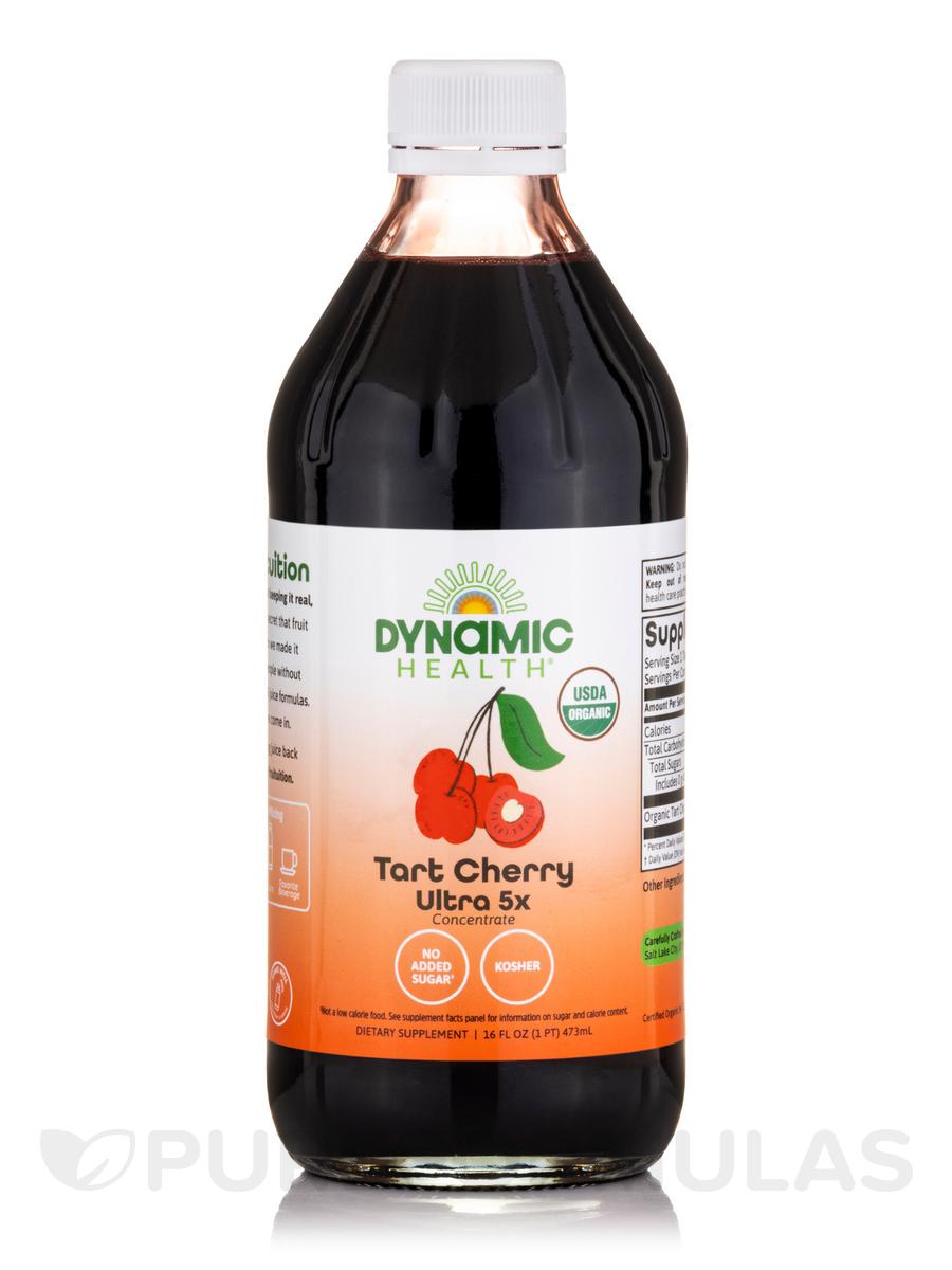 Organic Tart Cherry Ultra 5x 100% Juice Concentrate - 16 fl. oz (473 ml)