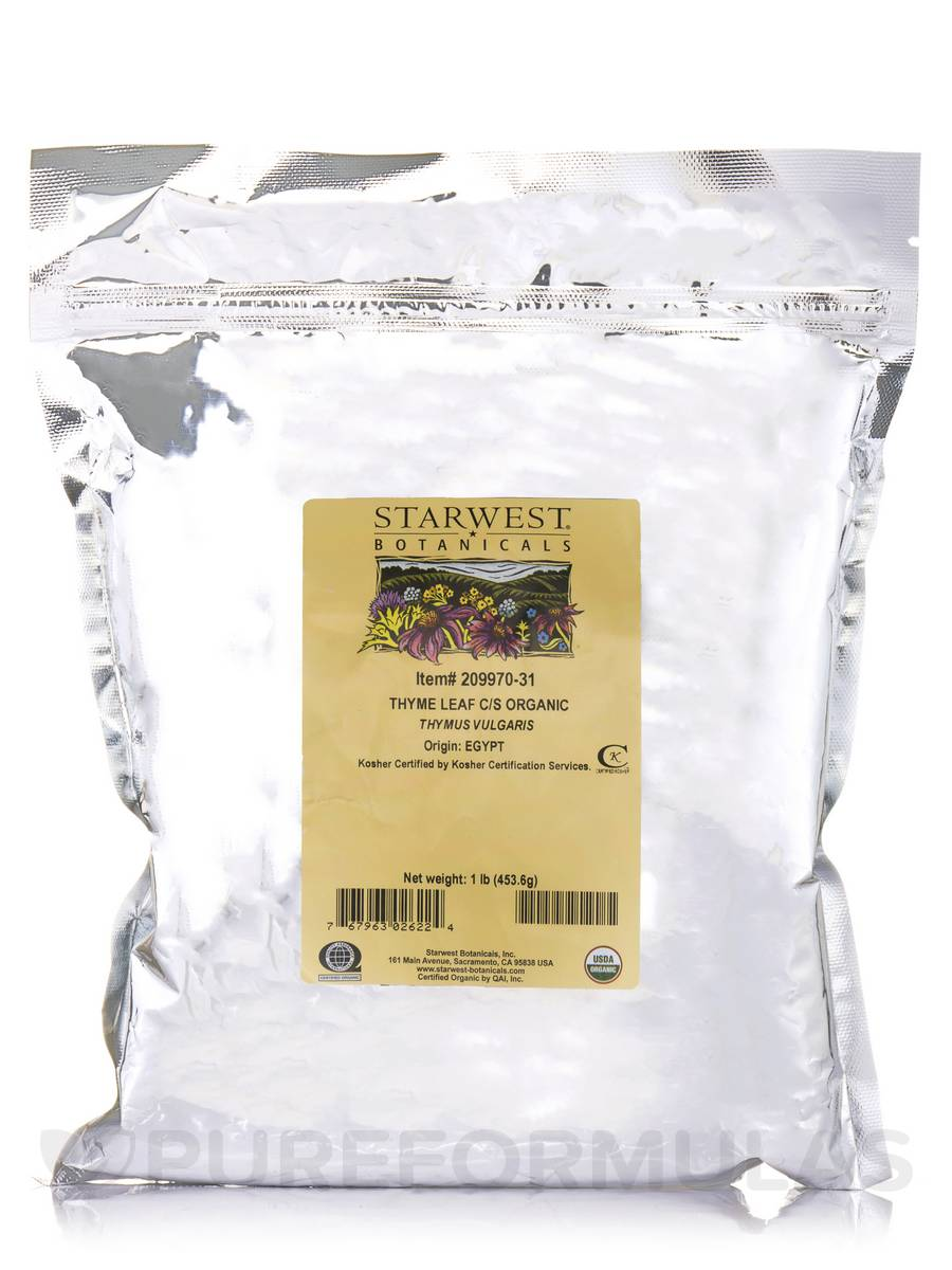 Organic Thyme Leaf Cut & Sift - 1 lb (453.6 Grams)