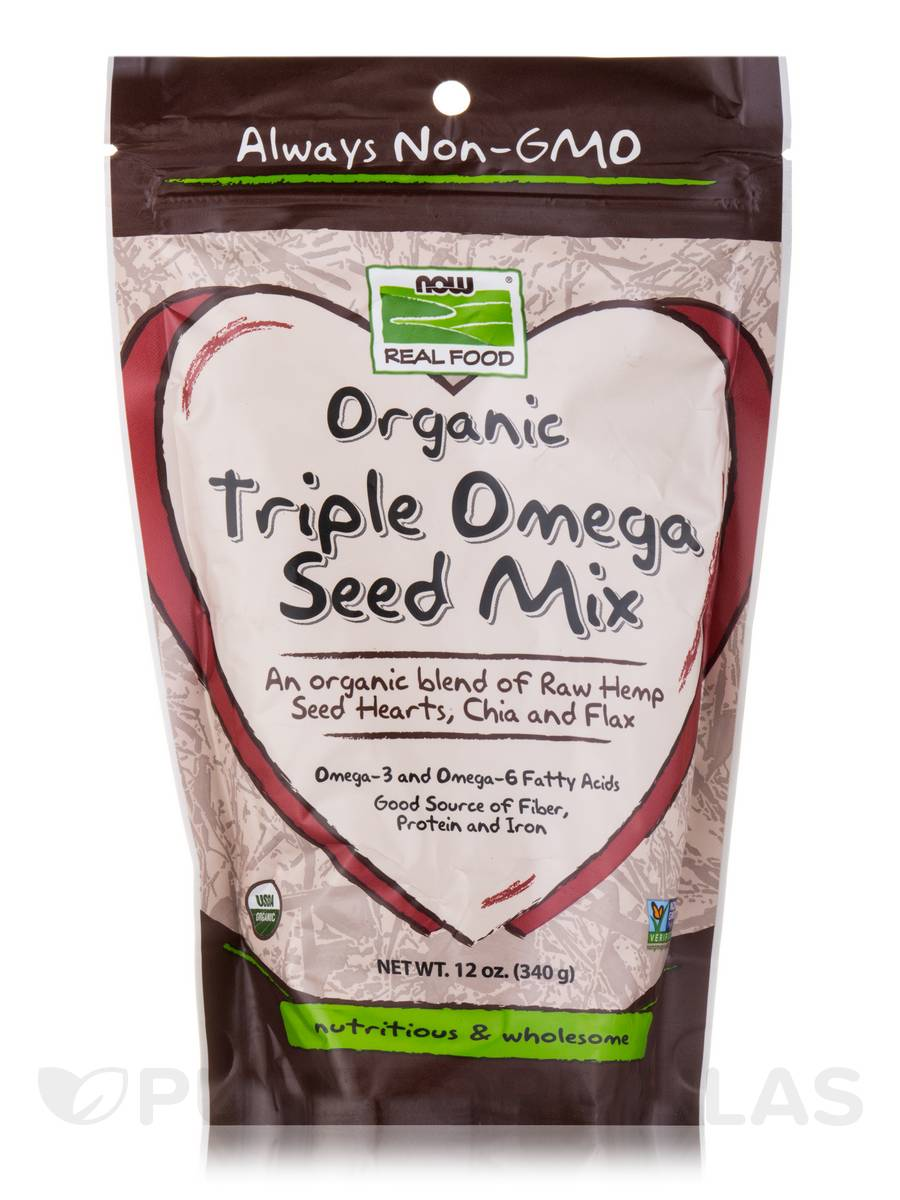NOW Real Food® - Organic Triple Omega Seed Mix - 12 oz (340 Grams)