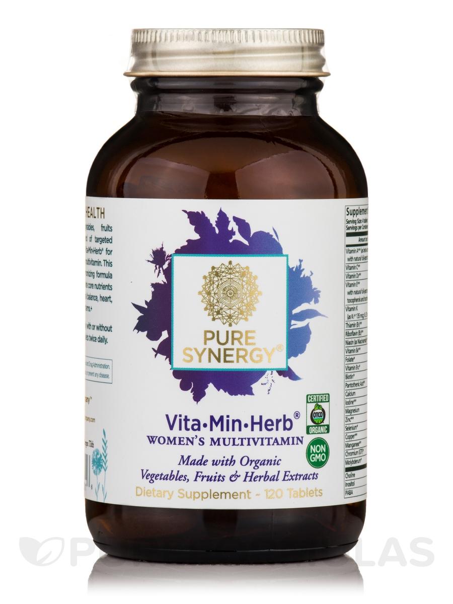 Organic Vita-Min-Herb® for Women - 120 Vegetable Tablets