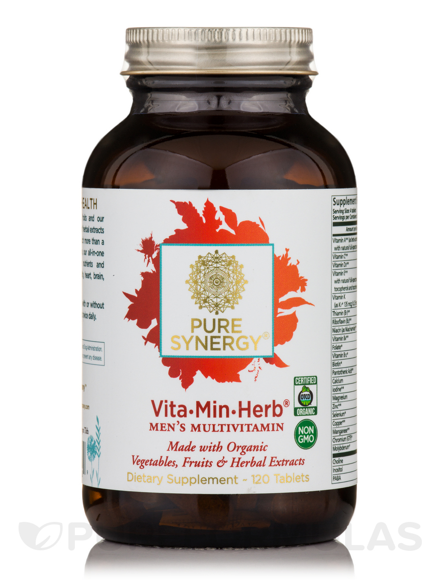 Organic Vita-Min-Herb® for Men - 120 Tablets