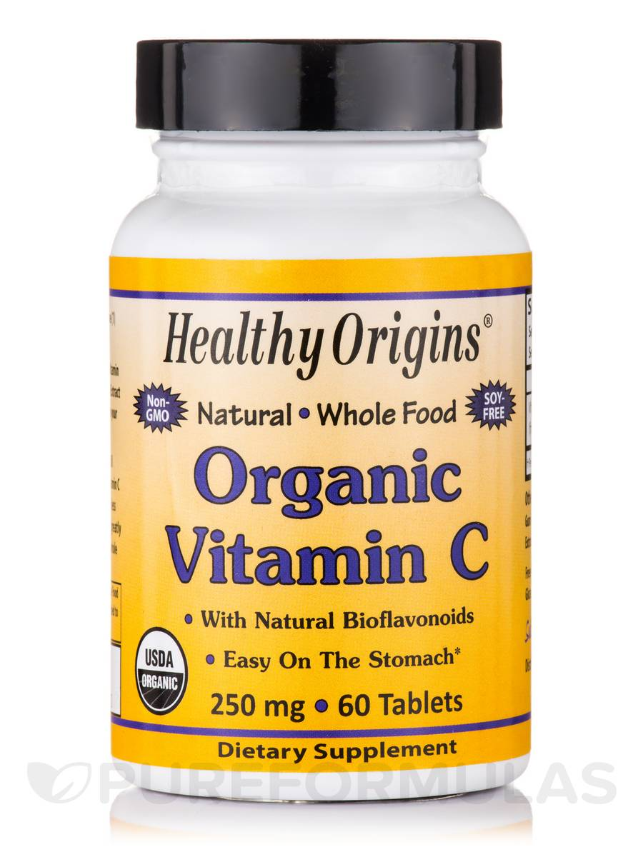 Organic Vitamin C 250 Mg 60 Tablets
