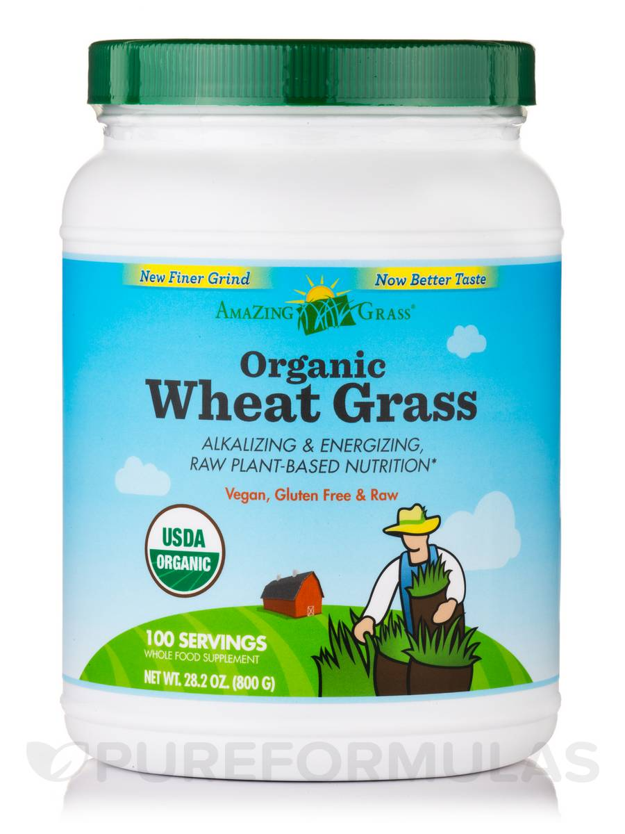 Organic Wheat Grass Powder - 100 Servings (28.2 oz / 800 Grams)