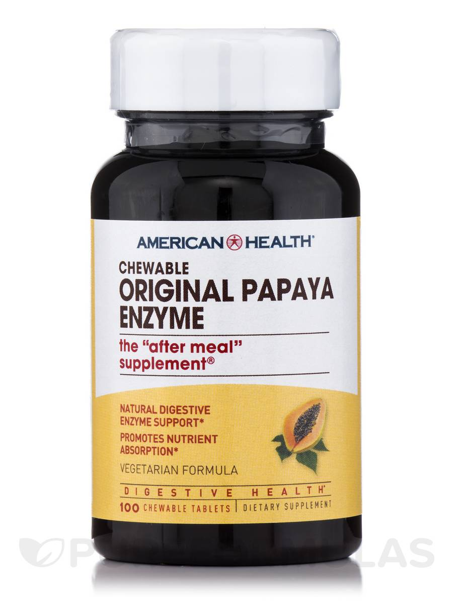 Original Papaya Enzyme - 100 Chewable Tablets