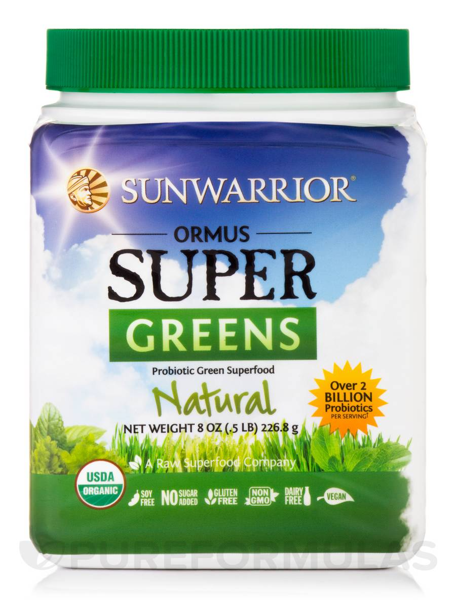 Ormus Supergreens (Organic, Natural Flavor) - 8 oz (226.8 Grams)