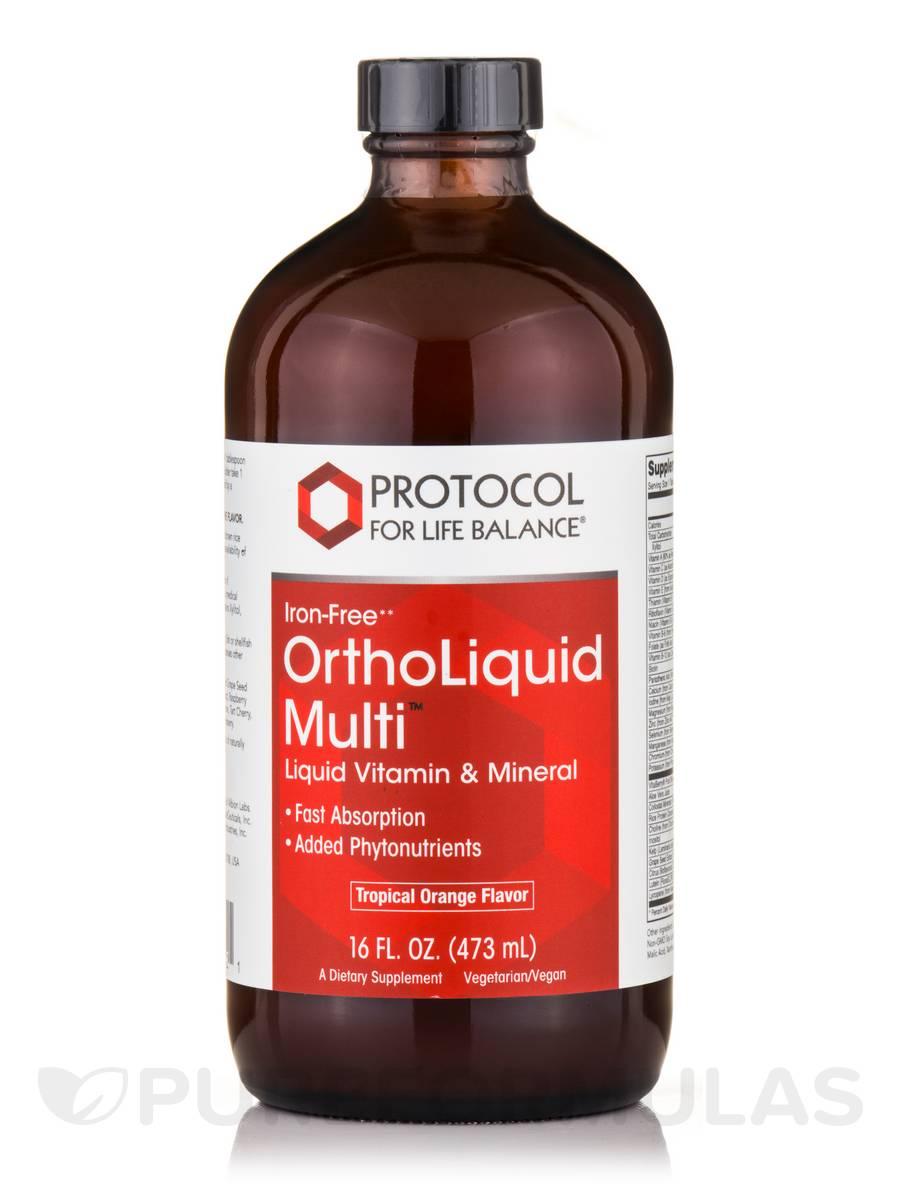 Ortho Liquid Multi™ Iron Free - 16 fl. oz (473 ml)