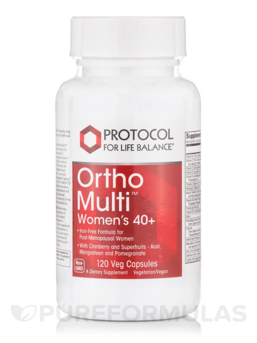 Ortho Multi™ for Women's 40+ - 120 Vegetarian Capsules