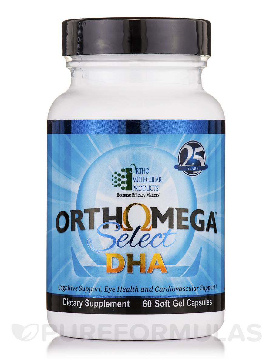 Orthomega Select DHA - 60 Soft Gel Capsules