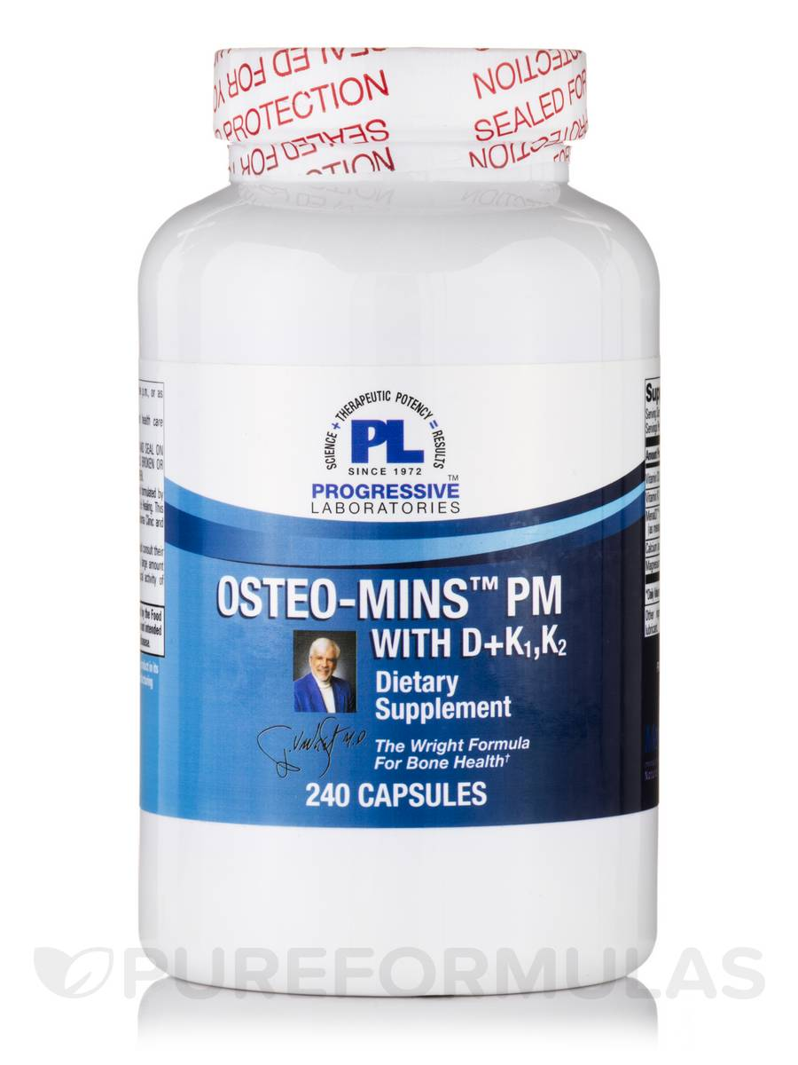 Osteo Mins PM with D + K1, K2 - 240 Capsules