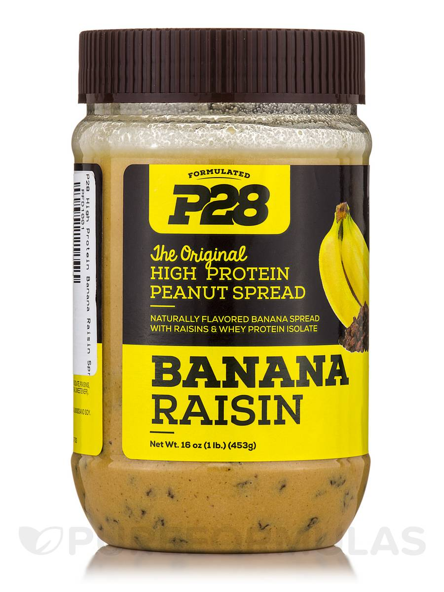 P28 High Protein Banana Raisin Spread - 16 oz (453 Grams)