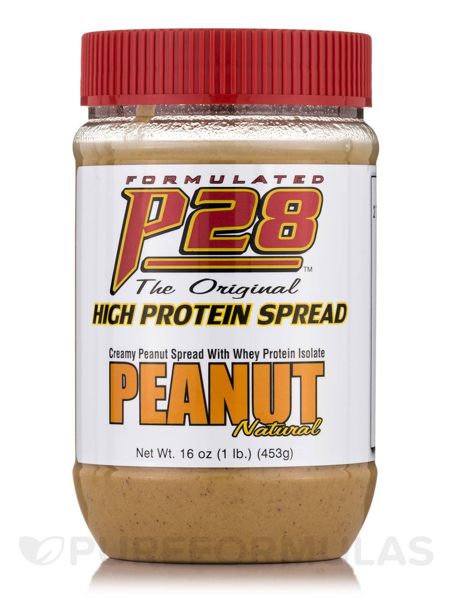 P28 High Protein Plain Peanut Spread - 16 oz (453 Grams)