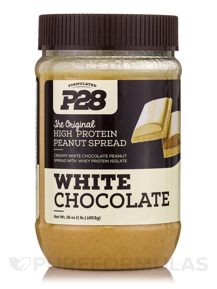 P28 High Protein White Chocolate Peanut Spread - 16 oz (453 Grams)