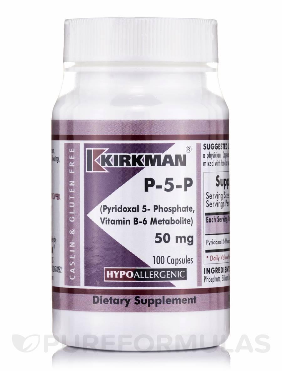 P-5-P 50 mg -Hypoallergenic - 100 Capsules