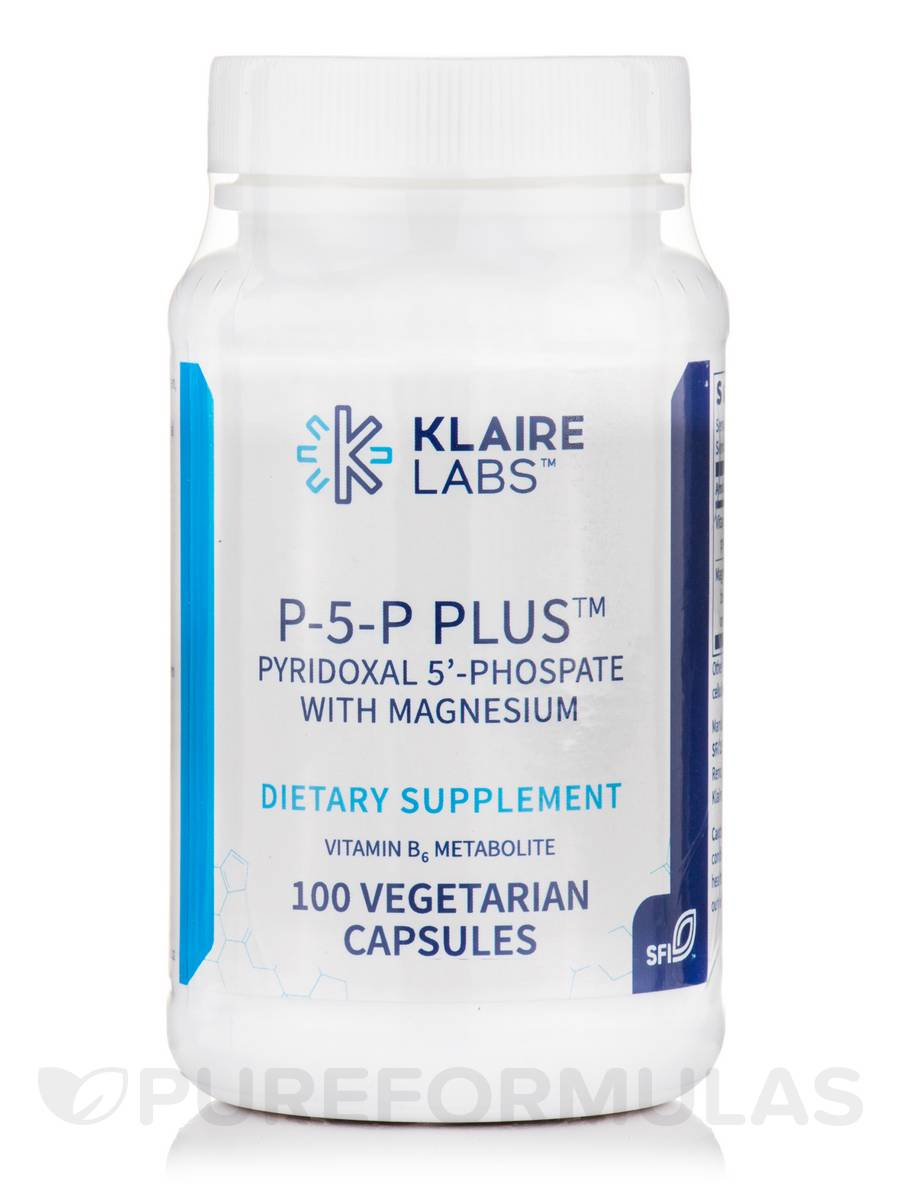P-5-P Plus™ (Pyridoxal 5'-Phosphate with Magnesium) - 100 Vegetarian Capsules