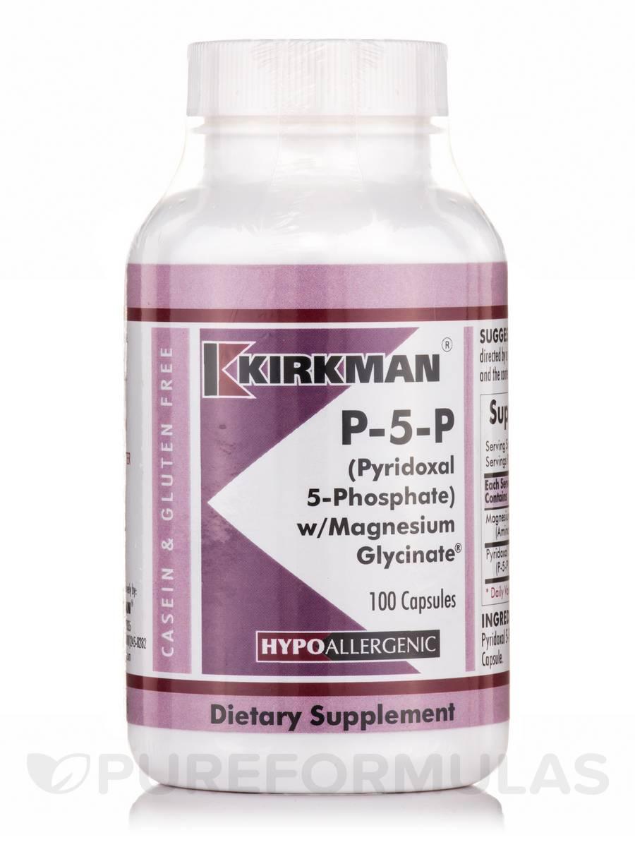 P-5-P with Magnesium Glycinate -Hypoallergenic - 100 Capsules