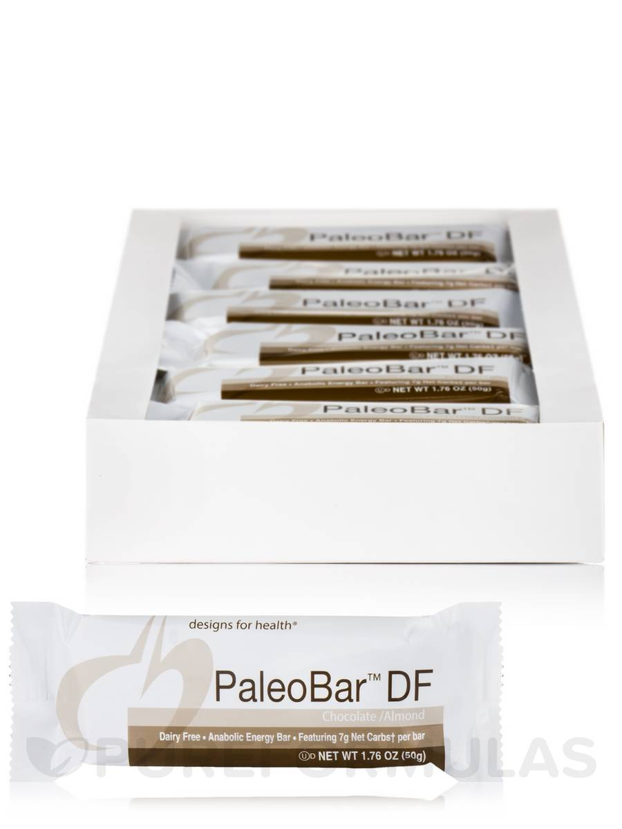 PaleoBar™-DF Chocolate/Almond Anabolic Energy Bar - Box of 18 Bars