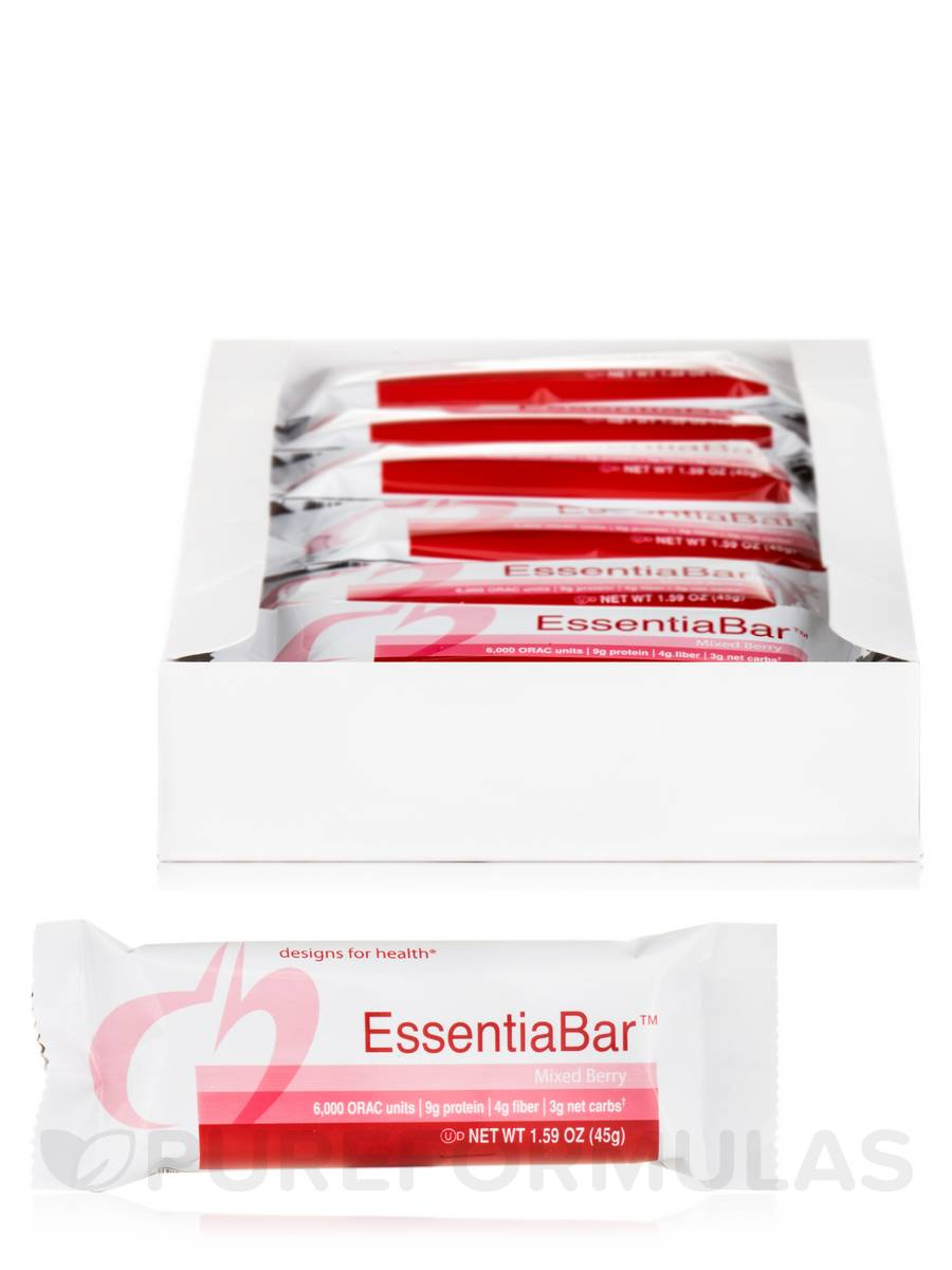 EssentiaBar™ Mixed Berry Flavor - Box of 18 Bars