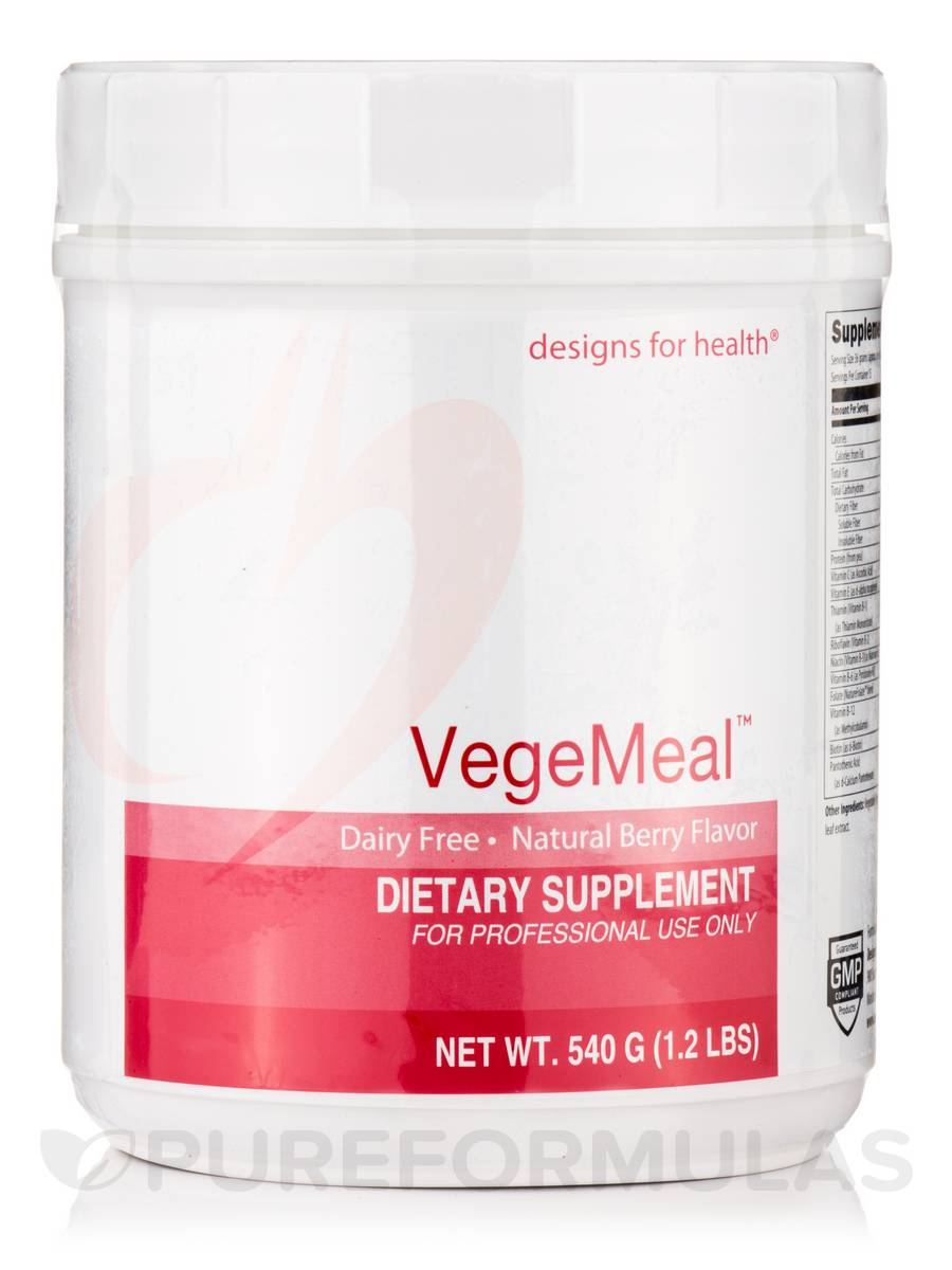 VegeMeal™ Powder, Natural Berry Flavor - 540 Grams (1.2 lbs)