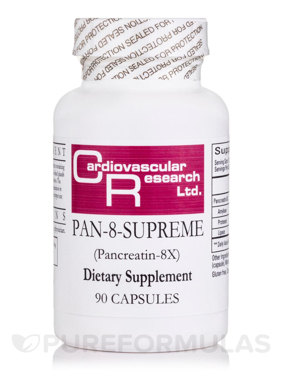 Pan 8 Supreme (8X Porcine Pancreatin with Glycerine) - 90 Capsules
