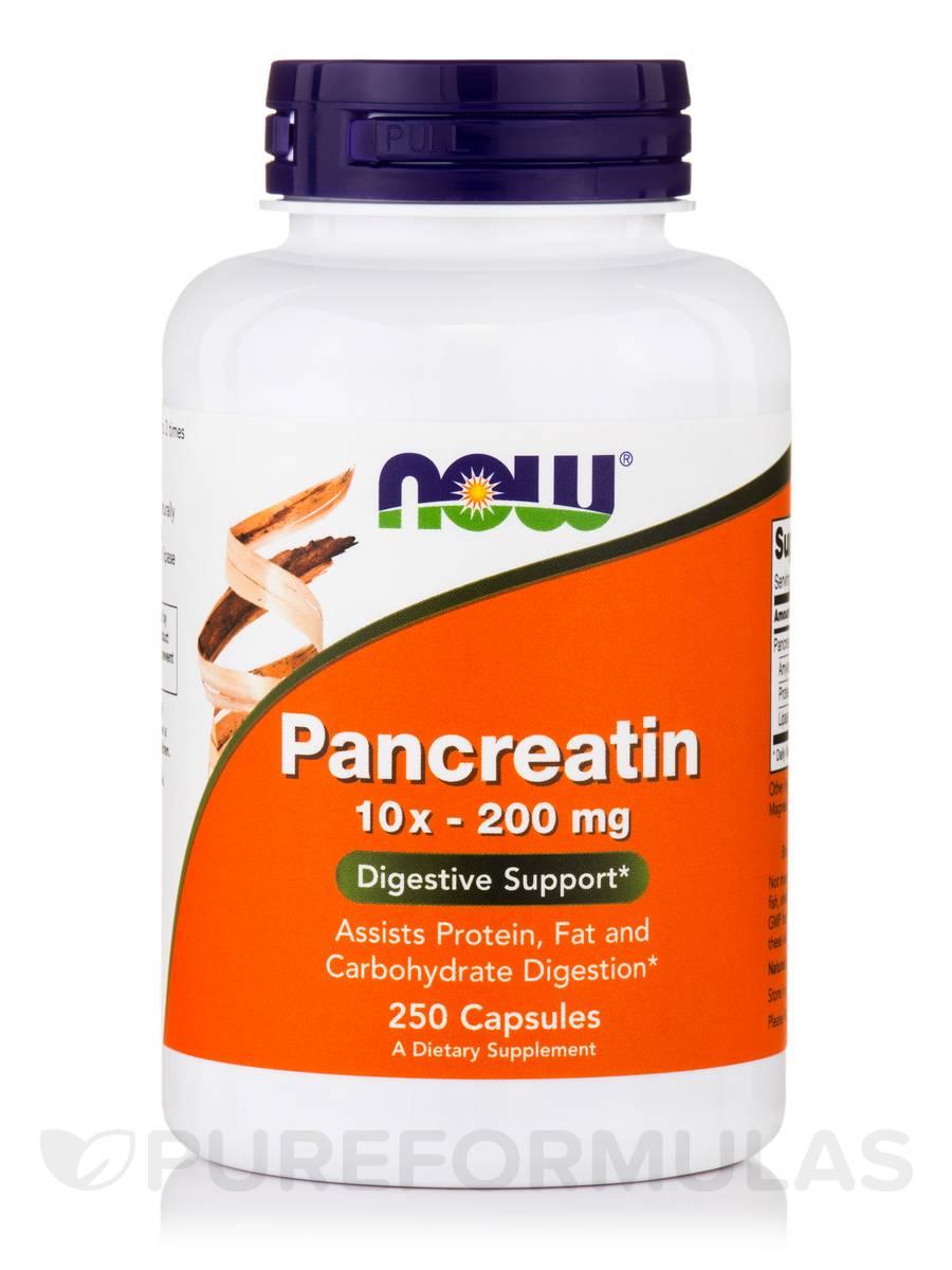 Pancreatin 10X - 200 mg - 250 Capsules