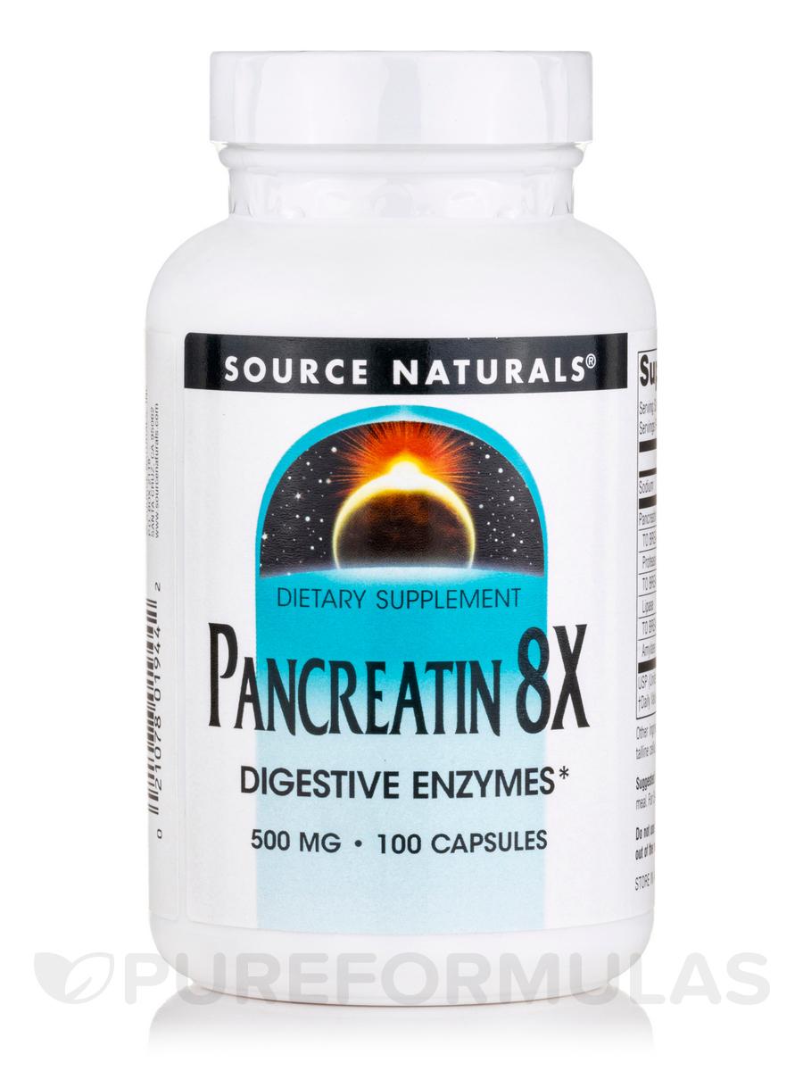 Pancreatin 8X 500 mg - 100 Capsules