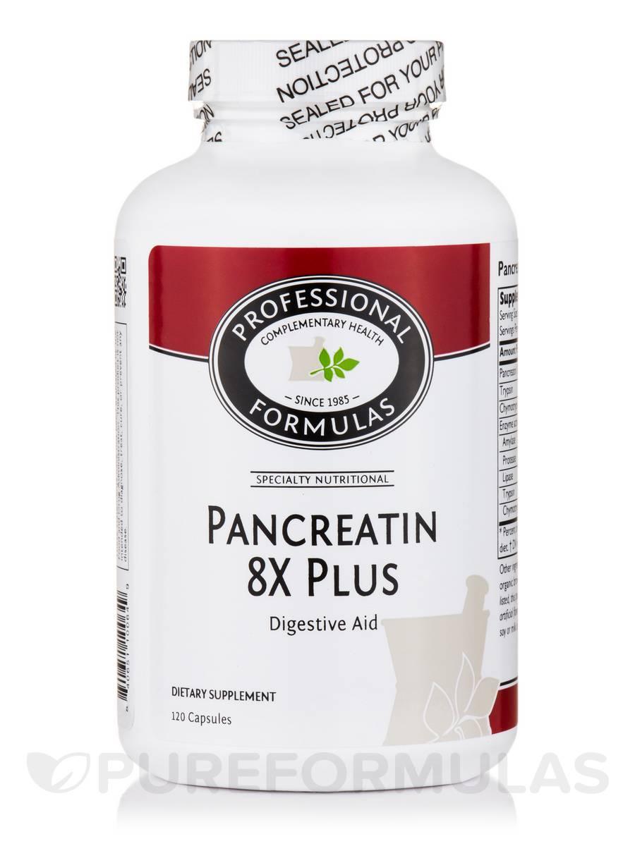 Pancreatin 8X Plus - 120 Capsules