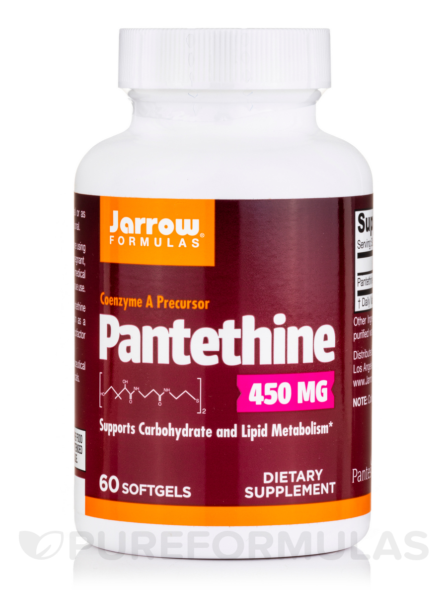Pantethine 450 Milligrams - 60 Softgels