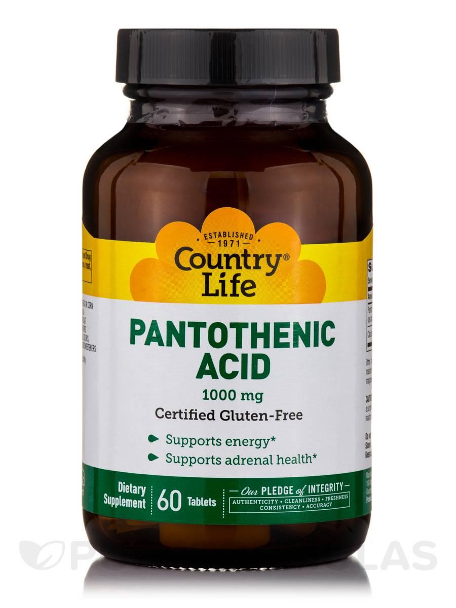 Pantothenic Acid 1000 mg - 60 Tablets