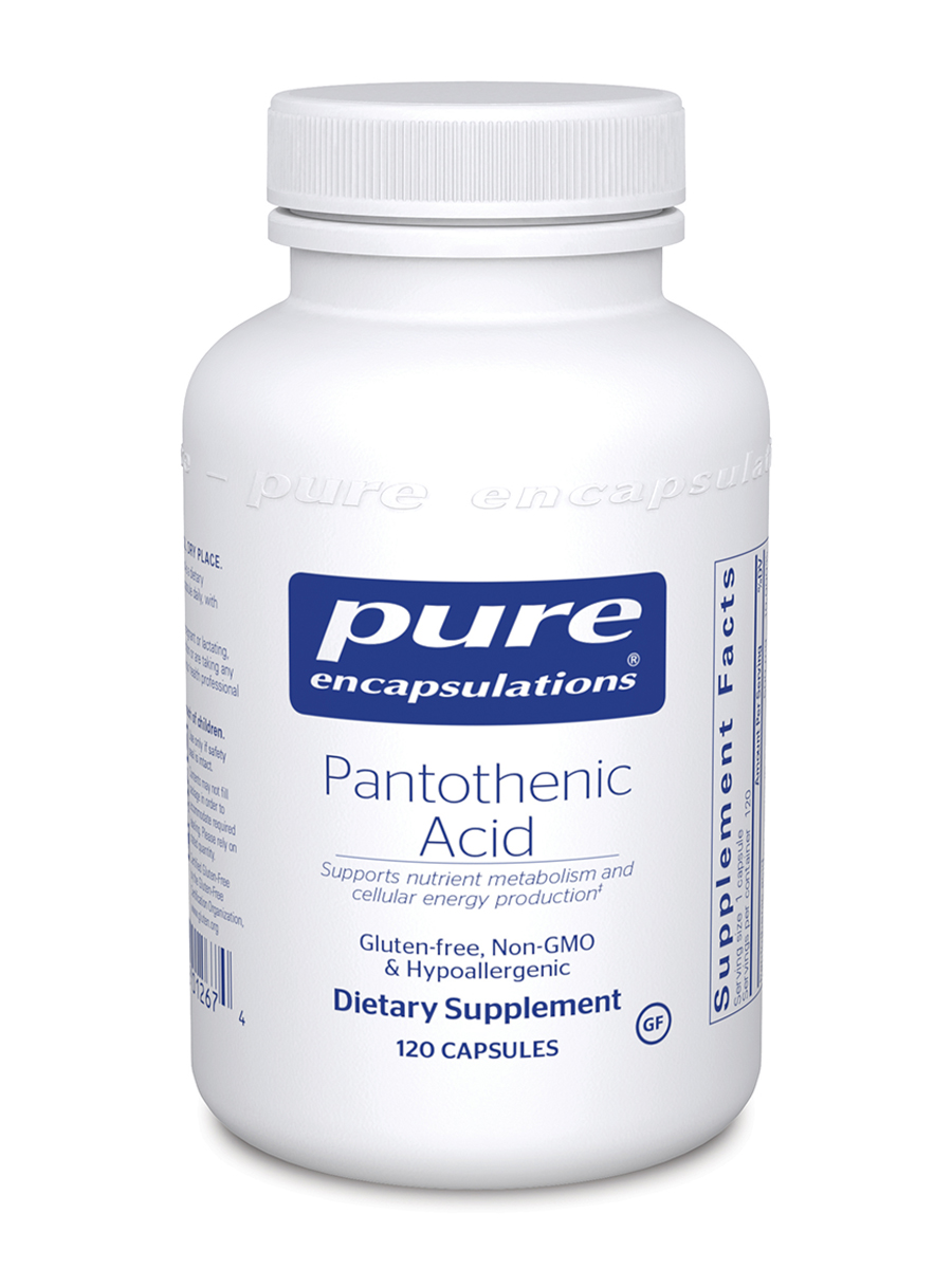 Pantothenic Acid - 120 Capsules