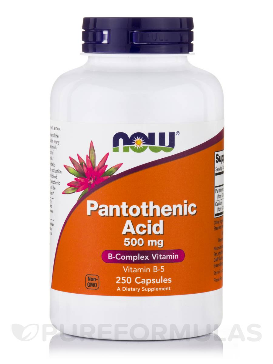 Pantothenic Acid 500 mg - 250 Capsules